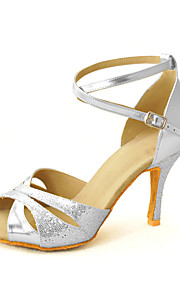Customized Women's Sparkling Glitter Ankle Strap Latin / Ballroom Dance Shoes (More Colors)
