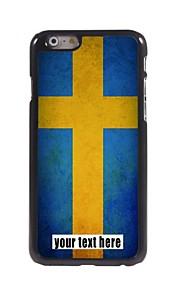 """gepersonaliseerd geval Zweedse vlag ontwerp metalen behuizing voor de iPhone 6 (4.7 """")"""