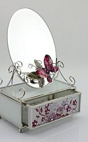 cadeaux de mariage boîte à bijoux en verre fleur de bureau