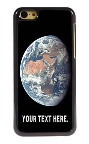 gepersonaliseerd geval de aarde ontwerp metalen behuizing voor de iPhone 5c
