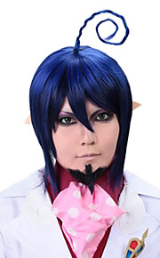 Angelaicos Men Ao No Exorcist Mephisto Pheles Boys Prestyled Short Blue Halloween Costume Cosplay Wig Beard