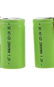 SC - Ni-MH - Batterij - 2800mAh - ( mAh )