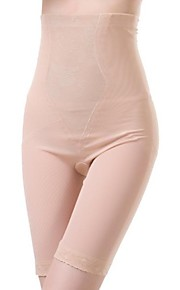 Panties Pants  Waist Cincher Polyester Spandex Embroidery Almond Sexy Lingerie Shaper