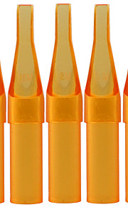 itatoo ™ 100st tattoo supply steriele gele plastic wegwerp tattoo tips-flat / magnum tips
