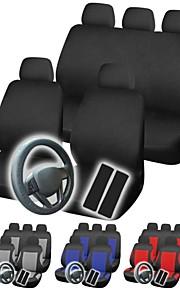 12pcs universales conjunto completo cubierta del coche que labra los accesorios para interiores de automóviles asiento de coche cubierta