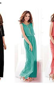 Women's Chiffon Casual Irregular Sleeveless Vest Loose Plus Size Dress