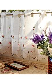 """une 67wx23 de panneau """"l (172cmwx60cml) floral blanc / botanique linge de cuisine faux rideau"""