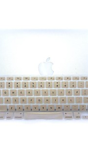 """goud-plastic ultra dunne zachte toetsenbord beschermer huid van de dekking voor macbook pro 13.3 / 15.4 """""""