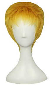 Angelaicos Men Reiner Braun Attack On Titan Boy Short Golden Layered Halloween Costume Cosplay Full Wigs