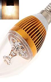 1 stk. dingyao E14 12 W Høyeffekts-LED 350 LM Varm hvit/Kjølig hvit Lysestakepære AC 85-265 V