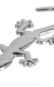 zilverkleurige metalen gekko auto stickers (10 * 4.5)