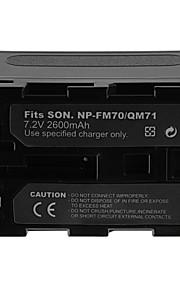 2600mAh batería de la cámara para Sony NP-QM71 / FM70