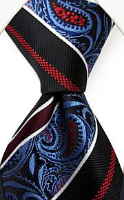 P29  New Handmade Dress Men's Neckties Red Blue Multicolor Stripes Paisley 100% Silk Business Jacquard Woven