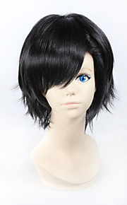 Angelaicos Men MekakuCity Actors Kagerou Project Seto Kosuke Boys Short Layered Black Halloween Costume Cosplay Full Wig