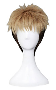 Angelaicos Men Jean Kirstein Attack On Titan Boy Layered Blonde Black Cool Lolita Halloween Party Costume Cosplay Wig