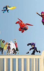 Wall Stickers Wall Decals, Big Hero 6 Baymax PVC Wall Stickers