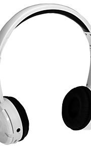 BM-086 stereo hi-fi hovedtelefon øretelefon gaming headset med mikrofon&batteri sort og hvid