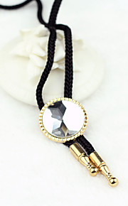 Men Party/Casual Nylon/Other Round Shape Crystal Bolo Neck Tie