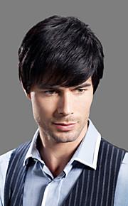новое прибытие гладкой ручной девственные волосы Remy человека связаны топ-монолитным мужские парики