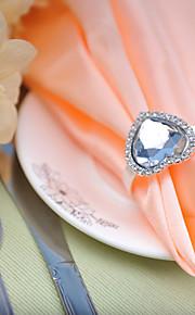 ajuste de la tabla de la boda --- diamante en forma de corazón hebilla servilleta