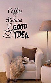 Coffee Is Alway Glass Window Cafe Wall Stickers