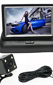renepai® 4,3 inch vouwen monitor + 170 ° hd auto achteruitrijcamera + groothoek waterdichte camera