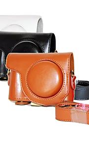 dengpin pu leer olie huid afneembare camera cover case tas voor Casio EX-zr3500 (verschillende kleuren)