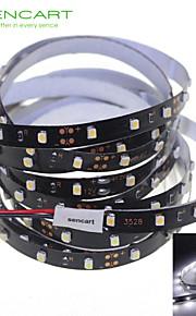 SENCART 5 M 300 3528 SMD белый Можно резать/Диммируемая/Компонуемый/Подсветка для авто/Самоклеющиеся 25 W Гибкие светодиодные ленты DC12 V