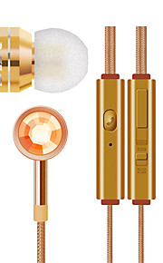 JTX-555 3.5mm volumeregeling ruisonderdrukkende microfoon in het oor van oortelefoon voor iPhone en andere telefoons (verschillende