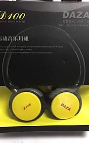 stilfulde sports genopladelige mp3 musikafspiller headset m / fm / tf - sort (3,5 mm jack)