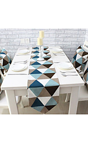 """Европейский стиль высокое качество геометрической хлопок печати бегун стол (12 """"x63"""")"""