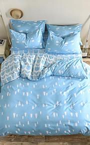 mingjie® HURSTS blu e le foglie queen e dimensione doppia assestamento levigatura regola 4pcs per ragazzi e ragazze biancheria da letto