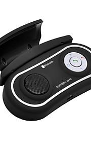bluetooth handsfree carkit afgekapt op auto stuurwiel, Bluetooth 3.0 + EDR kan twee telefoons tegelijk ondersteunen