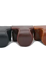 dengpin pu leer olie huid afneembare camera case tas voor panasonic gf7 met 14-42mm 12-32mm lens (verschillende kleuren)