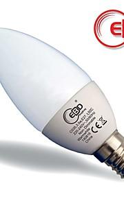 ebd® 3,5 W candle light, e14 stearinlys pære, 250lm varmhvit, passert 25.000 timer med erp&iec test,