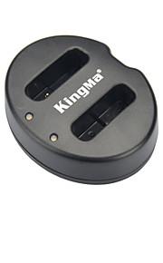 Kingma dual-slot acculader voor Canon NB-12L / PowerShot G1X mark / N100 - Zwart