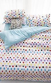 mingjie® texas regina vita e biancheria da letto di dimensioni levigatura twin set di 4 pezzi per i ragazzi e le ragazze di porcellana