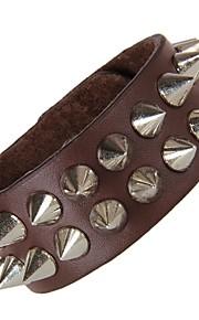 Unisex Western Style Fashion Punk Style Chain Bracelet Faux Leather
