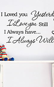 Wall Stickers Wall Decals, I Iove You English Words & Quotes PVC Wall Stickers