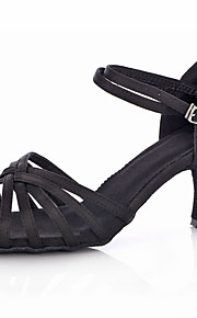 Customizable Women's Dance Shoes Latin Satin/Leatherette Customized Heel Black/Leopard/Other