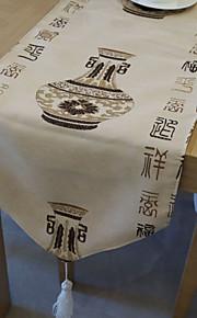китайский стиль стол бегун с вазой рисунком