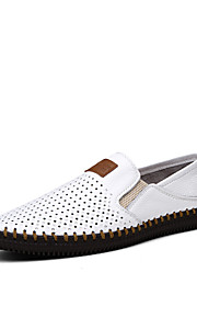 Men's Shoes Outdoor Leather Loafers Black/Blue/Brown/White