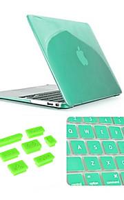 """3 i 1 Crystal Case med tangentbord lock och silikon damm plugg för macbook air 13,3 """"(blandade färger)"""