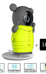 besteye® 16gb TF-kaart en schattig draadloze wifi camera met ir nachtzicht IP-surveillance draadloze camera
