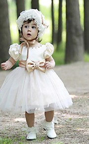 Flower Girl Dress - Palloncino Cocktail Maniche corte Tulle