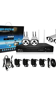 Babykamer/Voordeur/Garage - Kantoor/Winkel/Pakhuis/School/Straat - Bullet camera - CCTV DRV KIT ( 4 Kanaals , 1 Kanaals )