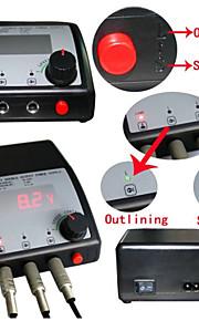 hot dual digital tatovering strømforsyning med støpsel dobbel utgang for tatovering maskingevær lcd vise toppkarakteren