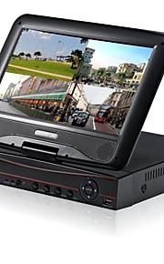 h.264 DVR / NVR-systeem 4/8 kanaal met een 10 inch LCD-scherm