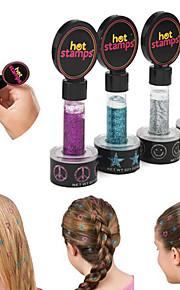 2stk skjønnhets kvinner hot frimerker freds blomster hår glitter (randoom farge)