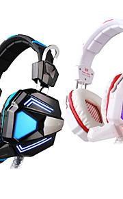 hver g5200 hovedtelefoner usb løbet øre gaming vibrationer vejrtrækning førte lys med mikrofon til pc